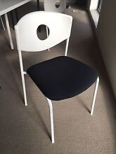 4 X B&W replica designer cafe office meeting chairs Collingwood Yarra Area Preview