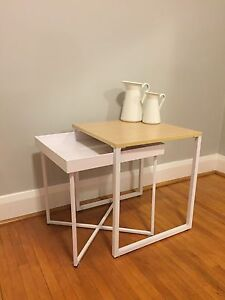 Functional and cute white side table  Kitchener / Waterloo Kitchener Area image 2