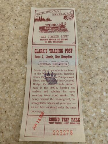 CLARK'S TRADING POST TICKET, memorabilia only, 6/15/19