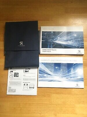 PEUGEOT PARTNER OWNERS PACK HANDBOOK MANUAL WALLET AND  SERVICE BOOK