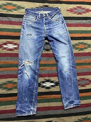 Vtg 1960's Levi's 501 Big E Selvedge Denim Jeans Button Fly Single Stitch 30x32