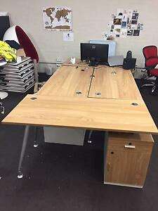 5 x Office Desks with storage (selling as 1 lot) Albert Park Port Phillip Preview