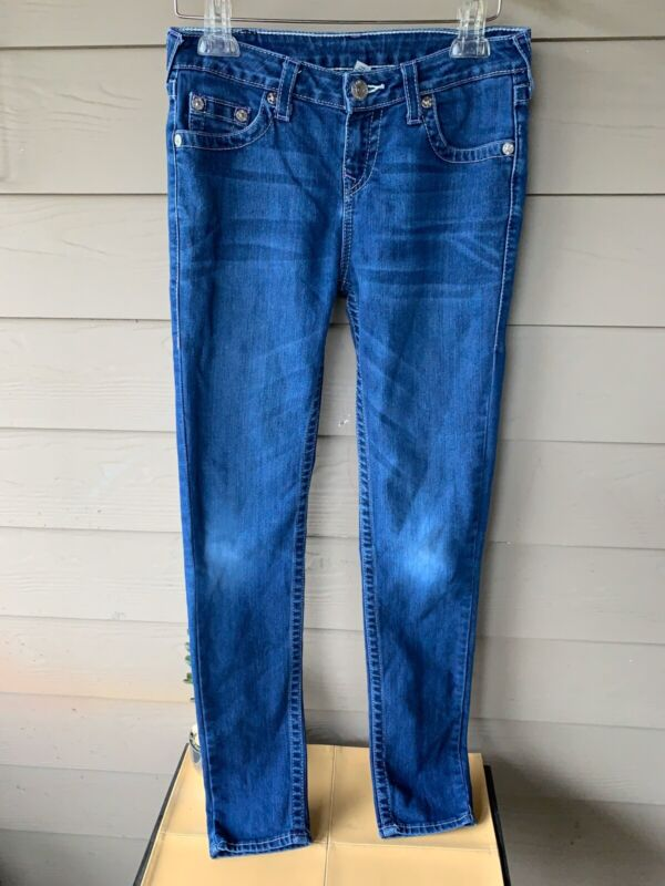 True Religion Natural Single End Skinny Jeans Sz 16 Youth