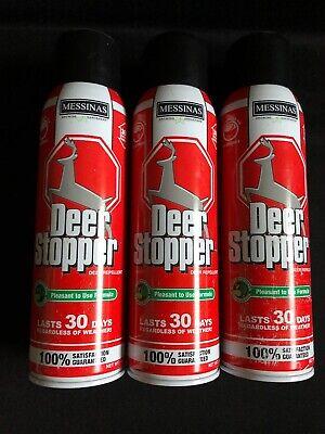LOT OF 3 - Messinas Deer Stopper For Deer Elk Moose Animal Repellent Spray 15 -