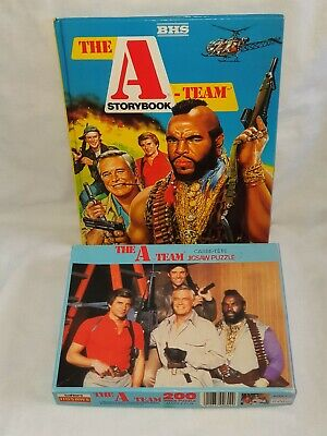 VINTAGE THE A-TEAM 1980'S STORY BOOK ANNUAL AND JIGSAW COMPLETE