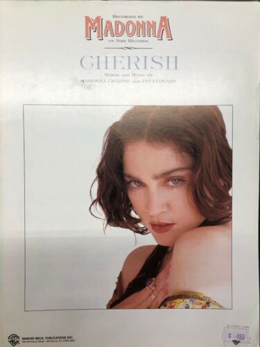 Cherish, Madonna 1989 Hit Song, Sheet Music