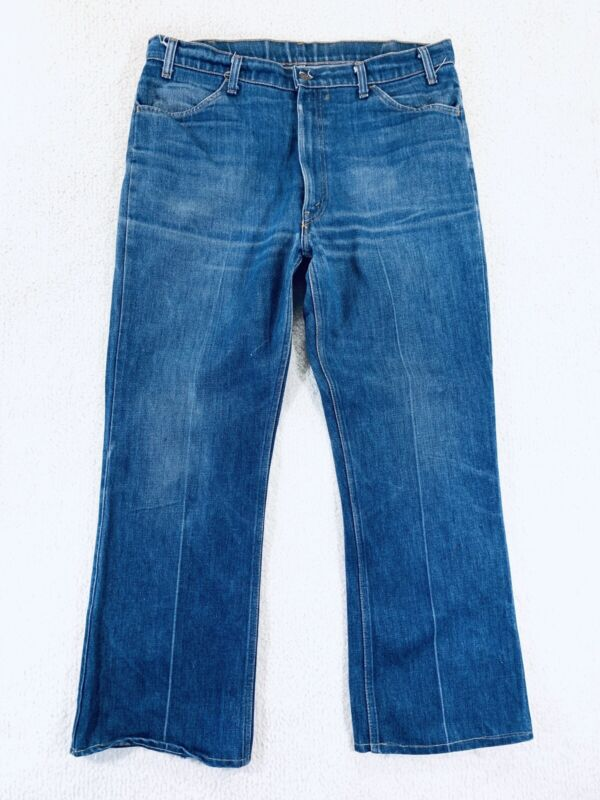 Vtg Levis 646 Orange Tab Bell Bottom Flare Jeans Mens Size 38x30 Made In USA 80s
