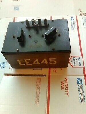 Vintag Egeneral Radio Co.lab Test Equipment Electrical Ratio Arm Box Type610