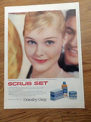 Teen Dorothy (1958 Dorothy Gray Ad  Teen-Agers Soap Blemish Cream)