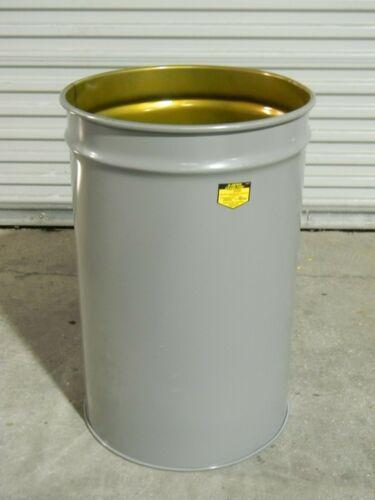 Justrite Cease-Fire 30 Gallon Waste Paper Receptacle Steel Drum 26430