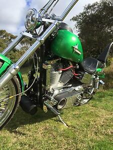 Harley Davidson S&S 124,Custom chopper Kingscote Kangaroo Island Preview