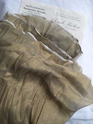 Piece Antique French Lame Gold Sheer Fabric Metallic Flapper