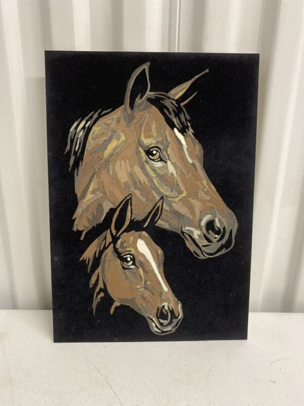 Vintage Paint By Number Horse and Pony