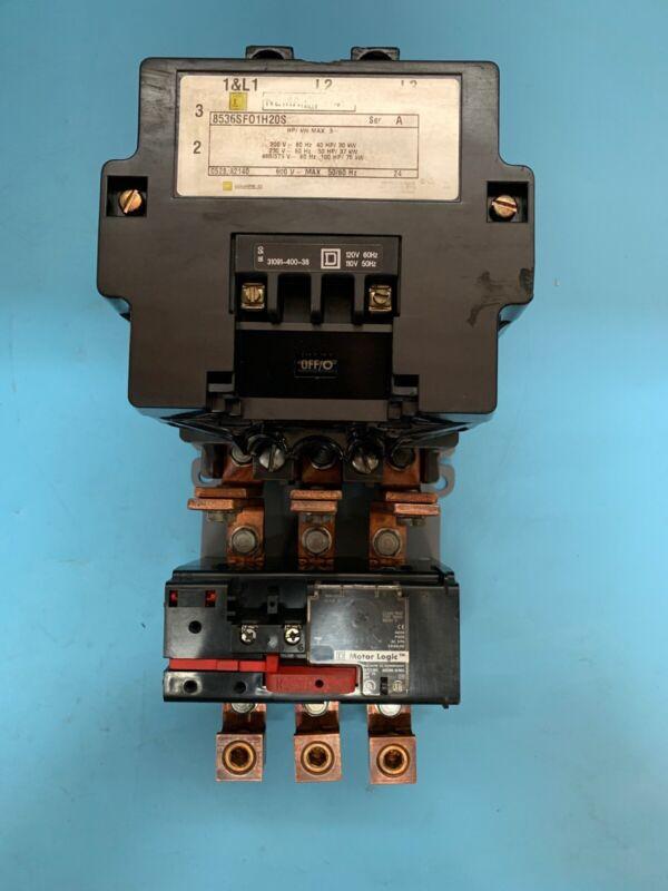 SQUARE D 8536SF011H20S MOTOR STARTER  NEMA SZ 4 SER A 600V 50/60HZ 110/120V COIL