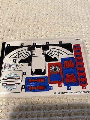 """LEGO 76115 SUPER HEROES SPIDER-MAN """"Spider Mech vs. Venom"""" STICKER SHEET"""