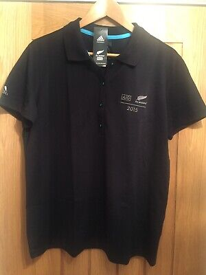 BNWT Mens Adidas AIG All Blacks 2015 Polo Shirt / Top - Medium New Zealand Rugby