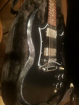 2004 Gibson SG Special worn black finish with chrome humbucker covers