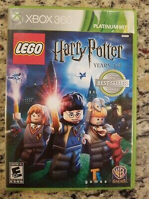 LEGO Harry Potter: Years 1-4 - Microsoft Xbox 360 Game, Platinum Hits, TESTED
