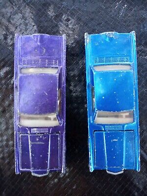 Hot Wheels Redline Custom Continental Mark III one Blue & one Purple