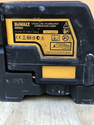Used Dewalt-dw0822 Self Leveling Cross Line And Plumb Spots Laser Level