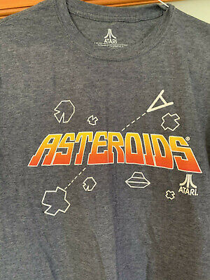 NWT Atari Asteroids short sleeve gray T-Shirt, Size M