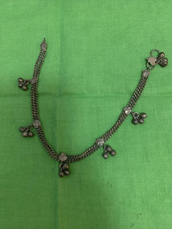 Vintage Indian Silver Tone Ankle Bracelet / Anklet