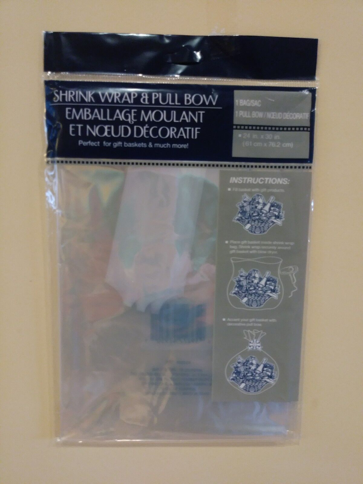 TWO packs Gift Wrap Shrink Bag clear cellophane for wrapping