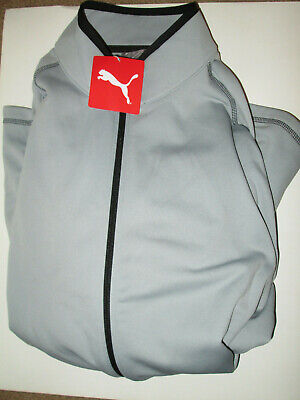 Puma Golf Men's Member Full Zip Fleece Jacket Large L Gray New