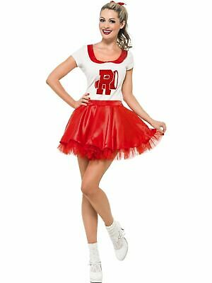 Grease Sandy Cheerleader 1950s womens Fancy Dress Costume Outfit Pink Ladies](Grease Sandy Cheerleader Costume)