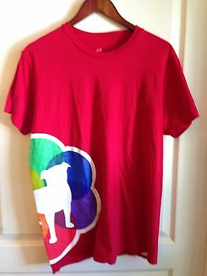 Zynga Games Gay Pride 2012 Play With Friends Dog Red Rainbow Tee T Shirt Red L