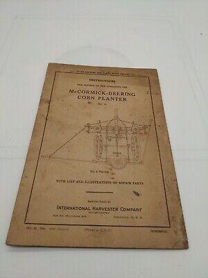 Mccormick Deering Corn Planter - Operators Manual