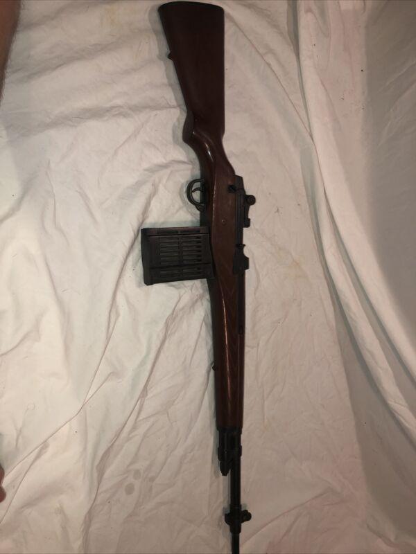 us army M-14 MARX vintage toy Gun sniper bolt action rifle cap machine