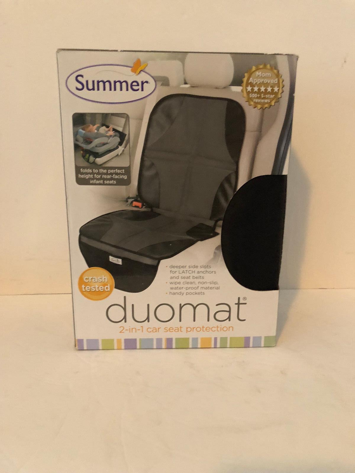 Summer Infant DuoMat 2-in-1 Car Seat Mat Black Gray 77640 Ne