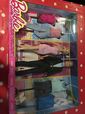 new/sealed Barbie & Ken Dolls with Fashion outfit Giftset,dress shoes swimwear