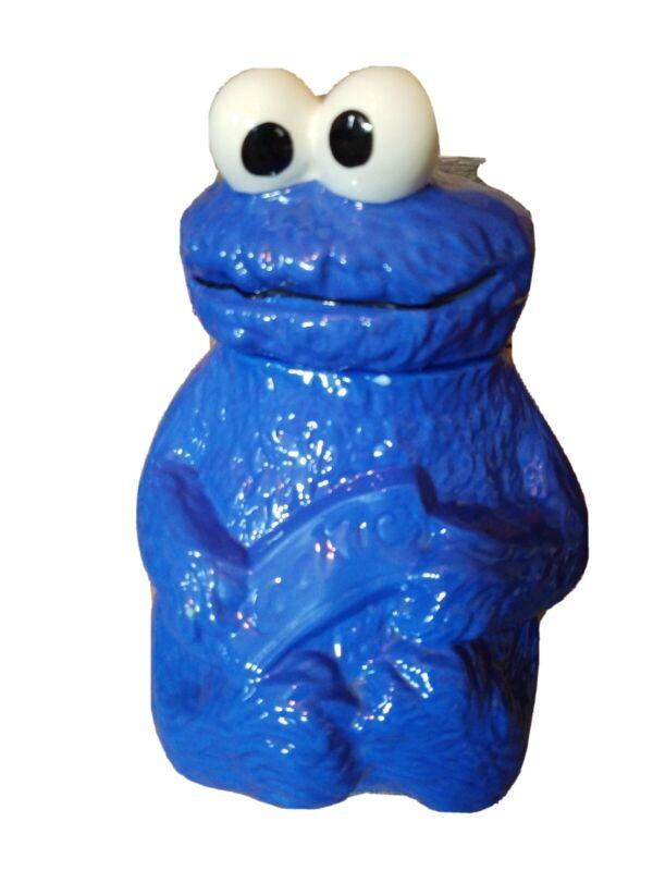 Vintage Cookie Monster large ceramic cookie Jar Sesame Street Muppets