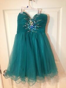 Green  dress formal size 5/6
