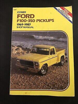 Clymer Ford F100-350 Pickups 1969-1987 Gas & Diesel Shop Manual A248 Truck comprar usado  Enviando para Brazil