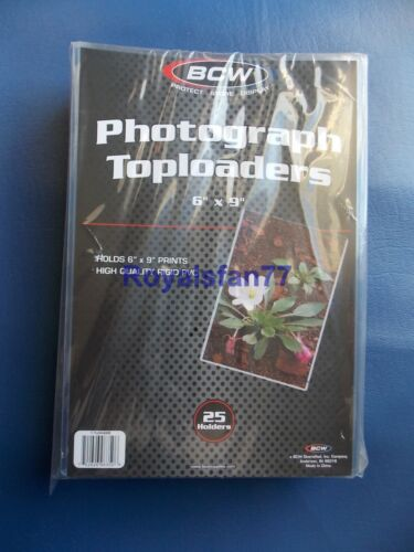 New Sealed (25) 6X9 BCW Rigid Photograph Toploaders 1-TLCH-6X9