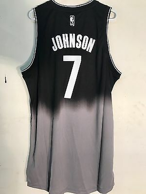 Joe Johnson Jersey - Adidas Swingman NBA Jersey BROOKLYN Nets Joe Johnson Black Fadeaway sz 2X