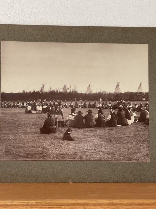 Vintage 1889-1907 SOUTHERN PLAINS NATIVE AMERICAN PRINT - C C Stotz Photographer