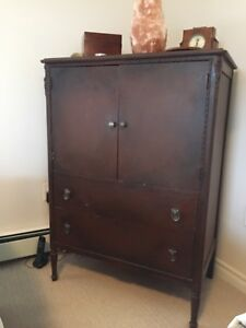 Antique dresser (tv stand)