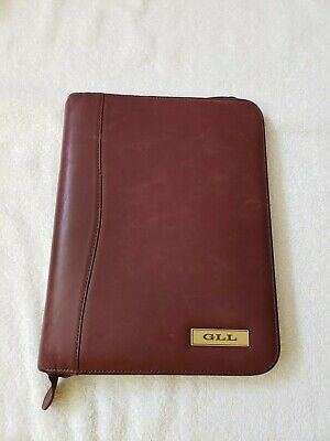Daytimer Soft Leather Planner With Zipper
