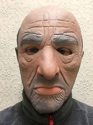 lter Mann Maske Herren Gangster Mafia Halloween Kostüm Latex (Herren-gangster Halloween-kostüme)