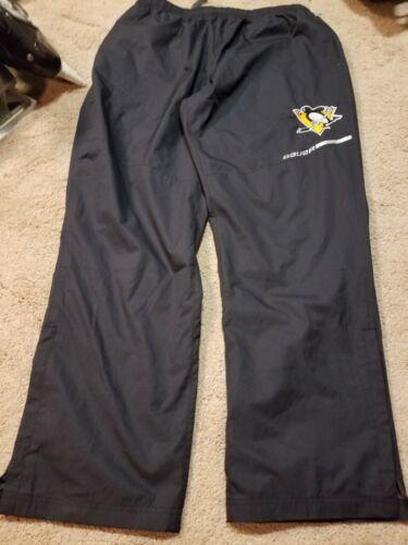 Bauer Pittsburgh Penguins Elite Black Workout Coaches Flex Pants NEW Size Medium