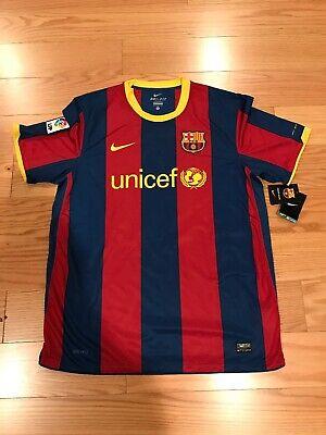 da989d8015de3 Nike FC Barcelona Messi No.10 Jersey 2010 2011 Home XL Ultra Rare NWT  382354 486