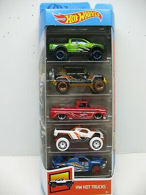 2020 Hot Wheels HW Hot Trucks 5 Pack Custom '62 Chevy '17 Raptor '17 Wrangler