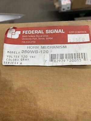 Federal Signal 350wb-120 Vibratone Electro-mechanical Horn.
