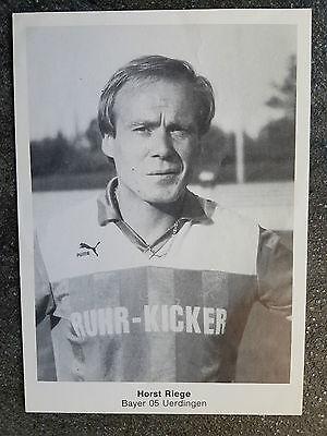 AK o.Orig.AG Horst Riege Fußball Bayer 05 Uerdingen Bundesligaspieler 70er Jahre