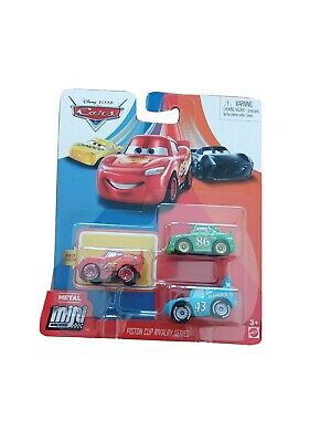 Disney Cars Mini Racers 3-Pack PISTON CUP RIVALRY SERIES The King Chick New