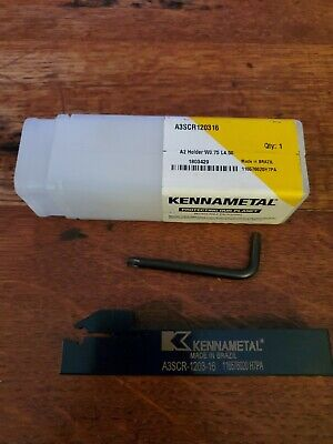 Kennametal Grooving Tool Holder A3scr-1203-16. 34 Shank